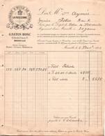MARSEILLE 1902 / RAFFINERIE D HUILE DE PETROLE / LA PHOCEENNE / FACTURE POUR ISTRES - 1900 – 1949