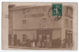 CARTE PHOTO ECRITE DE MONTREVEL (01) : HOTEL FORAY - LES PATRONS ET LE PERSONNEL - MONTREVEL OU AUTRE VILLE ? - 2 SCANS - A Identificar