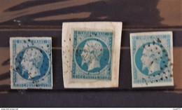 04 - 21 - France N°14 X 3 - 1853-1860 Napoleone III
