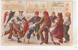 "J. Ibañez. Catalan People Dancing The Sardana"" Nice Vintage Spanish Postcard - Altre Illustrazioni"