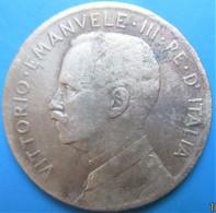 ITALIE, Victor Emmanuel III En Uniforme / Allégorie De L'Italie Sur La Proue D'un Navire, 5 Centesimi  1909, R, TB+ - Other