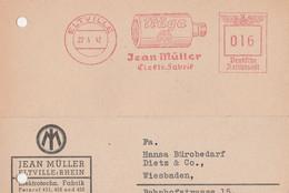 Deutsches Reich Firmenkarte Mit Freistempel AFS Eltville 1942 Träga Jean Müller - Machine Stamps (ATM)