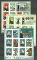 France 2007 - F4024A-F4026 F114-F116 Bloc Feuillets Adhésif Harry Potter - Neuf - Mint/Hinged