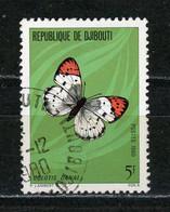 DJIBOUTI : PAPILLON -  N° Yvert  517 Obli. - Djibouti (1977-...)