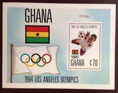 Ghana 1984 Olympics Winners Minisheet MNH - Ghana (1957-...)