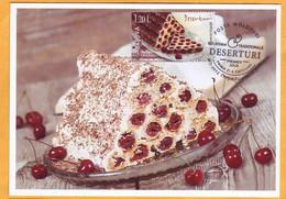 2020 Moldova Moldavie  National Cookery. Maxicard  Cakes, Dessert Cherry - Moldova