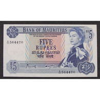 Ile Maurice, 5 Rupees ND (1967), XF - Mauritius