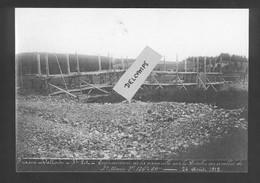 Ligne Frasne-Vallorbe  Enfoncement De La Passerelle Sur Le Doubs Au Remblai De Ste Marie -24 Août 1912  Reproduction - Non Classificati