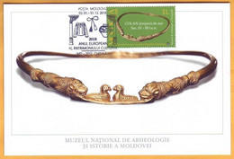 2004 2018 Moldova Moldavie Moldau  Maxicard  Gold Jewelry, Museum. Culture - Moldova