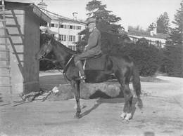 """2103 """"THIENE (VI)  - SETTEMBRE 1917 - S. E. IL GENERALE EMILIO DE BONO """" FOTOGR. ORIG., DIM. CM 9.0 0X 11,8 - Guerre, Militaire"""