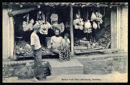 SRI LANKA - COLOMBO - Native Fruit Shop.(Boutique) ( Ed. Plâté,  Lda Nº 352)  Carte Postale - Shops