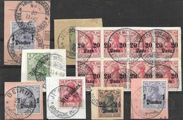 German Colonies Fragments Turkish Empire Jerusalem, Beirut, Constantinopel - Ufficio: Turchia