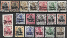 German Colonies Used Lot Morocco - Ufficio: Marocco
