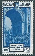 1935 REGNO MILIZIA 1 LIRA MH * - RE12-4 - Mint/hinged