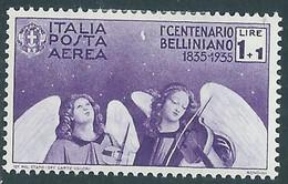 1935 REGNO POSTA AEREA BELLINI 1 LIRA MH * - RE17-3 - Luftpost