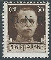 1944 RSI EFFIGIE GNR 30 CENT TIRATURA BRESCIA MH * - RE20 - Ungebraucht