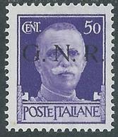 1944 RSI EFFIGIE GNR 50 CENT TIRATURA BRESCIA MH * - RE20 - Ungebraucht