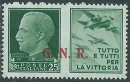 1944 RSI PROPAGANDA DI GUERRA 25 CENT BRESCIA III TIPO MH * - RE17-8 - Kriegspropaganda
