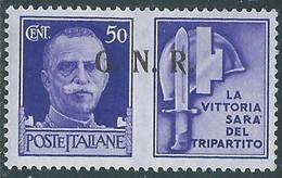 1944 RSI PROPAGANDA DI GUERRA 50 CENT BRESCIA III TIPO MH * - RE17-7 - Kriegspropaganda