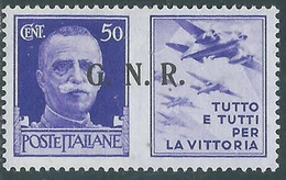 1944 RSI PROPAGANDA DI GUERRA 50 CENT BRESCIA III TIPO MH * - RE17-9 - Kriegspropaganda