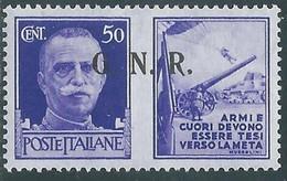1944 RSI PROPAGANDA DI GUERRA 50 CENT BRESCIA III TIPO MH * - RE17-10 - Kriegspropaganda