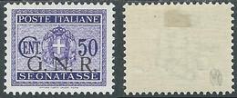 1944 RSI SEGNATASSE GNR 50 CENT TIRATURA BRESCIA MH * - RE20-3 - Portomarken