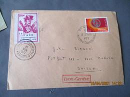 Lettre De Greveblyon Guignol Taxe Acheminement Greve Ptt 1974 - 1961-....