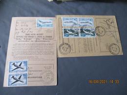 Lot De 5 Affranchissement Timbre Poste Aerienne  Mystere Caravelle Helicoptere Reexpedition Courrier - 1961-....