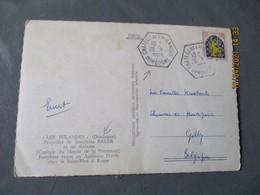 Chateau Des Milandes Recette Auxiliaire Cachet Hexagonal - 1921-1960: Modern Period