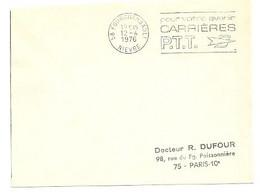 NIEVRE - Dépt N° 58 = FOURCHAMBAULT 1976 =  FLAMME à DROITE = SECAP ' CARRIERES PTT / Pour Votre Avenir ' - Annullamenti Meccanici (pubblicitari)