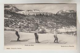 2 CPA GEX (Ain) - COL DE LA FAUCILLE 1323 M Route De La Faucille Partie De Skis, Vue Générale - Gex