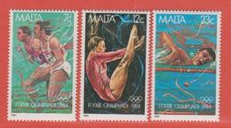 1984 Malta ** (sans Charn., MNH, Postfrisch)   Yv 691/3Mi  710/2 SG 742/4 - Malta