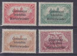 Marienwerder MiNr. 26-29 ** - Sectores De Coordinación