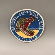#OB25 - Ecusson U.S. Naval Amphibious Base Little Creek  - Crocodile Tank Tissu - Patches
