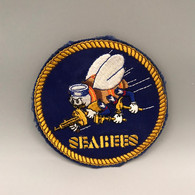 #OB27 - Ecusson SEABEES - Abeille Bees  Arme Insecte Tissu - Patches