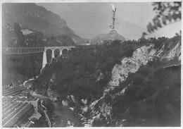 """2106 """"FERROVIA ROCCHETTE - ARSIERO (VI)  - 5 OTTOBRE 1917 """" FOT. ORIG., DIM. CM 8,2 X 10,5 - Guerre, Militaire"""