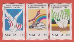 1984 Malta ** (sans Charn., MNH, Postfrisch)   Yv 697/9Mi  716/8 SG 748/50 - Malta