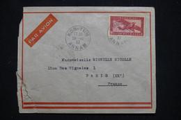 INDOCHINE - Enveloppe De Kon-Tum En 1937 Pour Paris Par Avion Via Saigon  - L 95748 - Covers & Documents