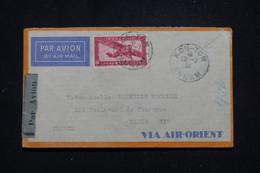 INDOCHINE - Enveloppe De Kon Tum Pour Paris En 1934 Par Avion - L 95752 - Covers & Documents