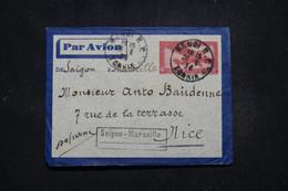 INDOCHINE - Aérogramme De Hanoi Pour Nice En 1934 Par Ligne Saigon / Marseille - L 95753 - Covers & Documents