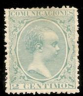 España Edifil 213* Mh  2 Céntimos Verde  El Pelón 1889/1901   NL1112 - Ungebraucht