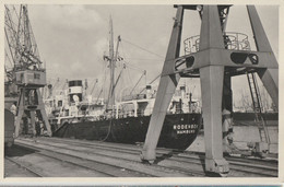 Foto-AK MS Rodenbek Hamburg Im Hafen Um 1955 - Passagiersschepen