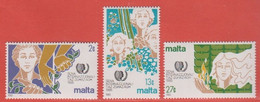 1985 Malta ** (sans Charn., MNH, Postfrisch)   Yv 704/6Mi  723/5 SG 756/8 - Malta