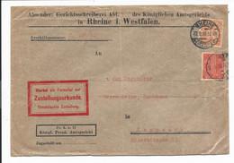 DR D 22  MiF - 1,30 Mk Bedarfs-Dienstbrief  Von Rheine Nach Knappsack - Covers & Documents