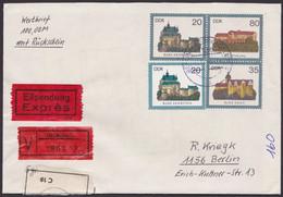 U 1, Orts-Eilboten-Wertbrief, 1984, Pass. Zusatzfrankatur - Umschläge - Gebraucht