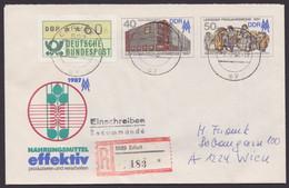 U 6, Mit Pass. Zusatzfrankatur Als R-Brief Nach Ungarn - Umschläge - Gebraucht