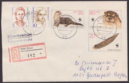 U 7, Mit Pass. Zusatzfrankatur Als R-Brief Nach Ungarn - Umschläge - Gebraucht