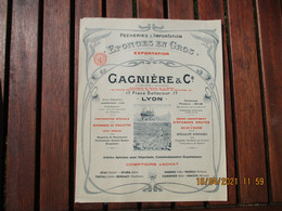 Lyon Eponges En Gros Gagnieres  Pecherie Importation Plongeur Scaphandre Depliant Tarif Illustre - 1900 – 1949