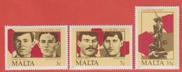 1985 Malta ** (sans Charn., MNH, Postfrisch)   Yv 709/11Mi  728/30 SG 761/3 - Malta