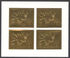 Guyana, 1992, Dog, Bear, Rabbit, Cougar, Butterfly, Dinosaur, Genova, Gold, MNH Perforated Sheetlet, Michel 3978BA - Guyana (1966-...)